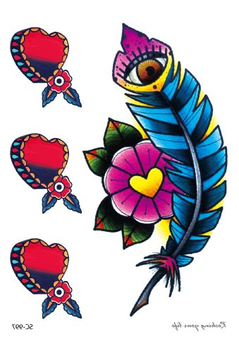 Hearts and feathers